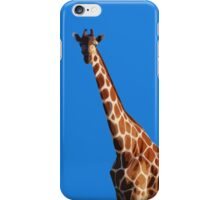 Giraffa camelopardalis BLUE iPhone Case/Skin
