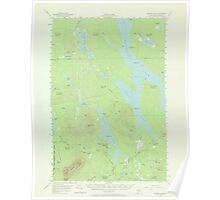 Maine USGS Historical Map Ragged Lake 306733 1954 62500 Poster