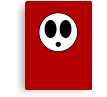 Mask of Shy Guy Canvas Print