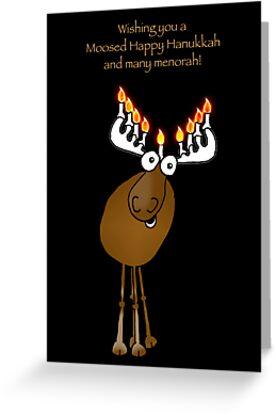 Moosed Happy Hanukkah! by graphicdoodles