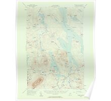Maine USGS Historical Map Ragged Lake 306734 1954 62500 Poster