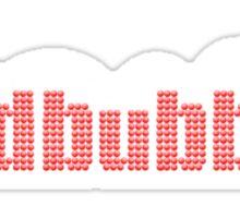 redbubble on black Sticker