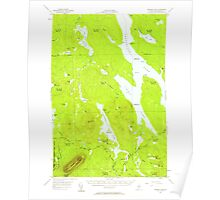 Maine USGS Historical Map Ragged Lake 460789 1954 62500 Poster