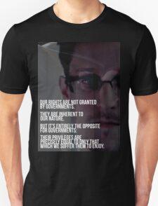 Snowden NSA Libertarian Rights Liberties  Unisex T-Shirt