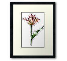 Tangle Tulips Framed Print
