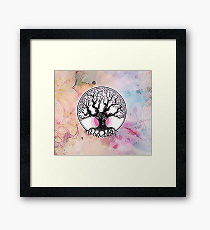 When colours blossom Framed Print
