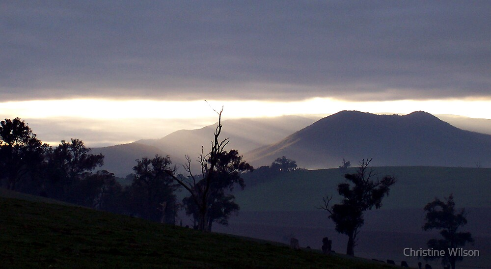 Yarra Glen Sun Rise  by Christine Wilson