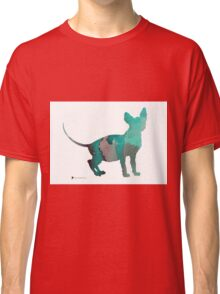 Sphynx cat silhouette art print Classic T-Shirt