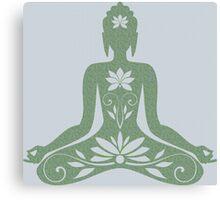 Sitting Buddha in Meditation Yoga  Canvas Print