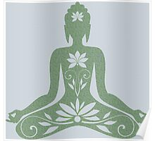 Sitting Buddha in Meditation Yoga  Poster