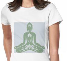 Sitting Buddha in Meditation Yoga  Womens Fitted T-Shirt