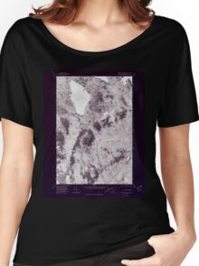 Maine USGS Historical Map Ragged Mountain 807084 1978 24000 Inversion Women's Relaxed Fit T-Shirt