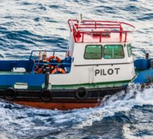 Pilot Boat in Curacao Sticker
