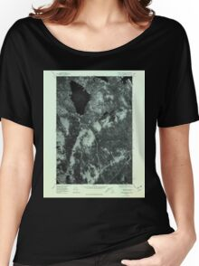 Maine USGS Historical Map Ragged Mountain 807084 1978 24000 Women's Relaxed Fit T-Shirt