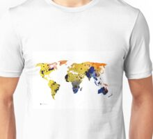 World map silhouette colorful poster Unisex T-Shirt