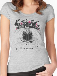I'd Rather Read Women's Fitted Scoop T-Shirt