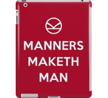 Keep Calm, and Manners - Kingsman iPad Case/Skin