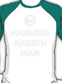 Keep Calm, and Manners - Kingsman T-Shirt