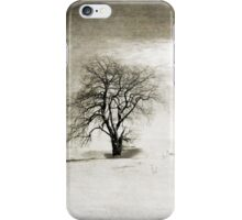 Black and White Winter Tree iPhone Case/Skin