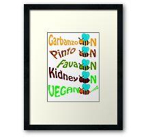 Vegan bee nzz Framed Print