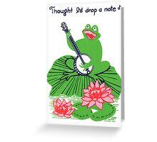 crooner Greeting Card