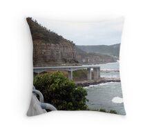 The sea bridge..Coalcliff Throw Pillow