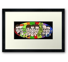 Jim Carrey - Chameleon Framed Print