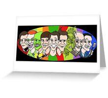 Jim Carrey - Chameleon Greeting Card