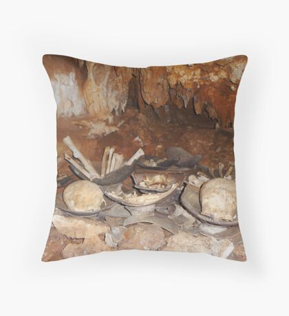 Cave Grave Throw Pillow