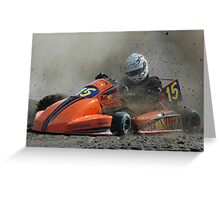 Lets go Karting Greeting Card