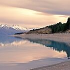 Glacial Shore - Lake Pukaki - NZ by James Pierce
