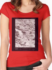 Maine USGS Historical Map Rainbow Lake East 807085 1978 24000 Inversion Women's Fitted Scoop T-Shirt