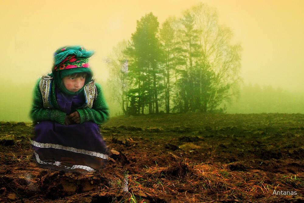Afghanistan girl peep to Lithuanian land by Antanas