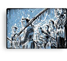 Seven Samurai Art Akira Kurosawa film movie illustration sword kung fu ninja japan japanese cartoon joe badon men 1954 action Canvas Print