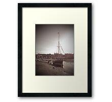 Sailing Ship moored at Blakeney Framed Print