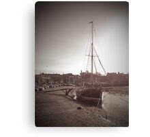 Sailing Ship moored at Blakeney Canvas Print