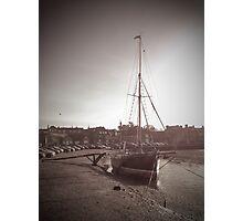 Sailing Ship moored at Blakeney Photographic Print