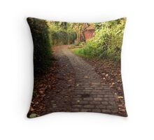 Cobbled Bridleway. Throw Pillow