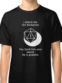 D20 Critical failure - Attack Classic T-Shirt