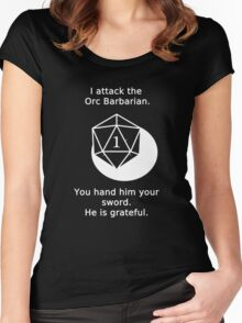D20 Critical failure - Attack Women's Fitted Scoop T-Shirt