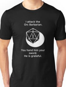 D20 Critical failure - Attack Unisex T-Shirt