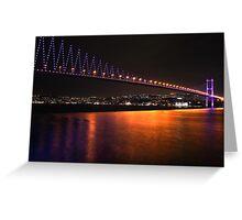 Istanbul Bridge Greeting Card