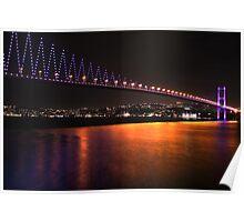 Istanbul Bridge Poster
