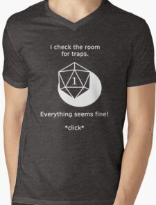 D20 Critical failure - Traps Mens V-Neck T-Shirt