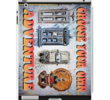 Time Machine Art Dr Who Bill and Ted Excellent Adventure Back to the future delorean tardis h g wells choose your own adventure iPad Case/Skin