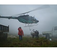 Helicopter Farm Work Photographic Print
