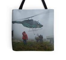 Helicopter Farm Work Tote Bag