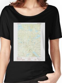 Maine USGS Historical Map Rainbow Lake West 460790 1988 24000 Women's Relaxed Fit T-Shirt