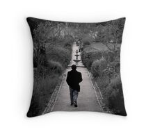 LONG MARCH ALONE Throw Pillow