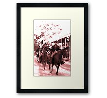 The Cavalry Comes to Town Framed Print